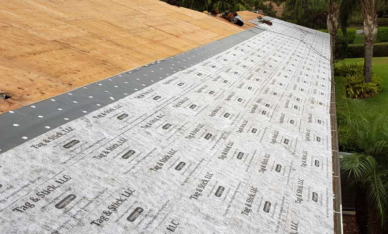 tag and stick water proofing