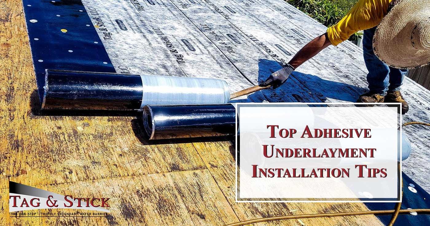 Adhesive-Underlayment-Installation