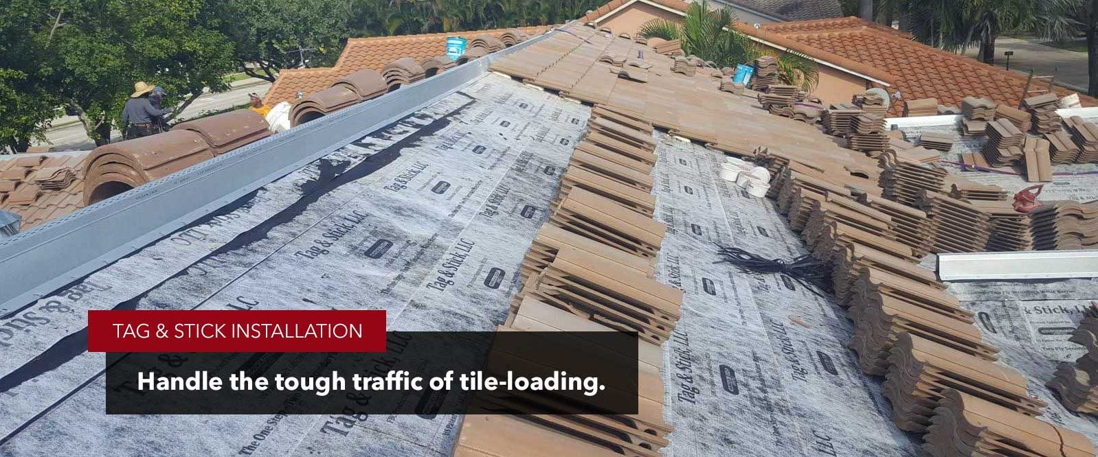 adhesive underlayment can handle tile-loading