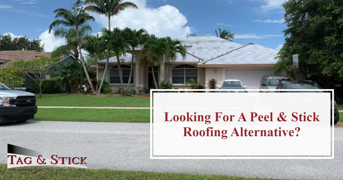 peel & stick roofing alternative