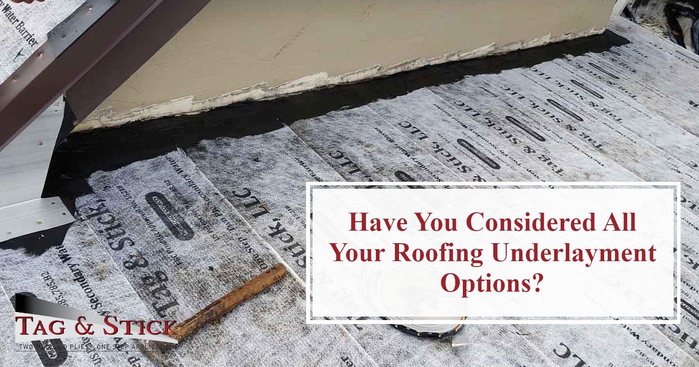 roofing underlayment options