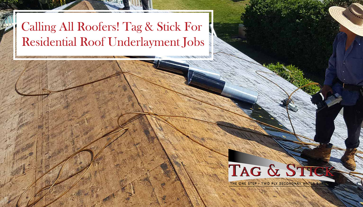 residential roof underlayment